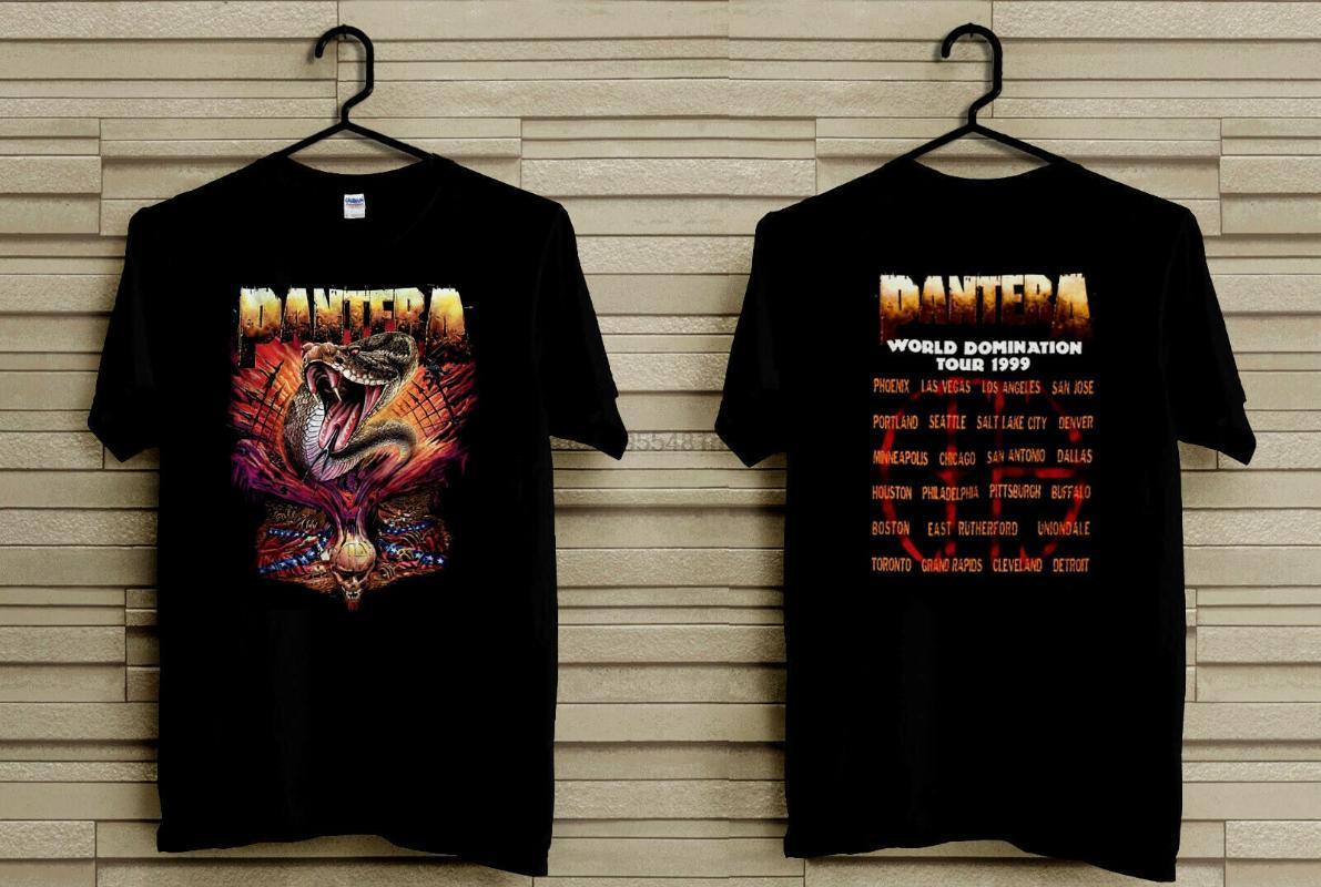 T-shirt da uomo Vintage Pantera T Shirt 1999 VTG Metal Domination Tour Snake Winterland