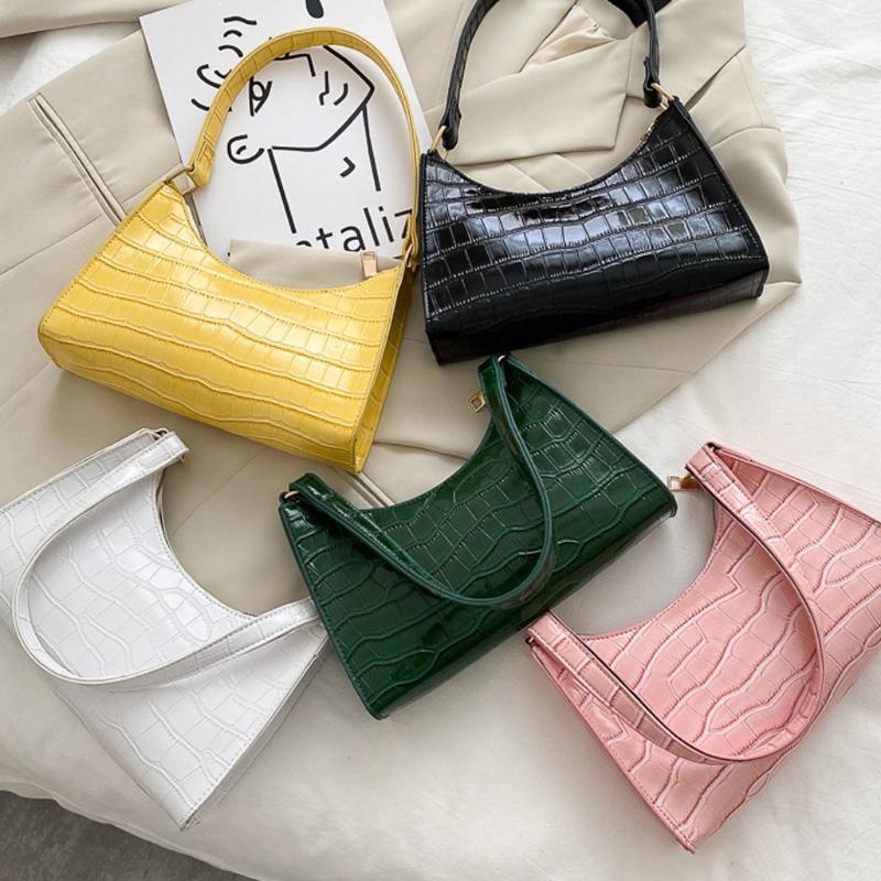 Bolsas de noite Crocodilo Retro PU couro clássico embreagem bolsa bolsa de bolsa para mulheres