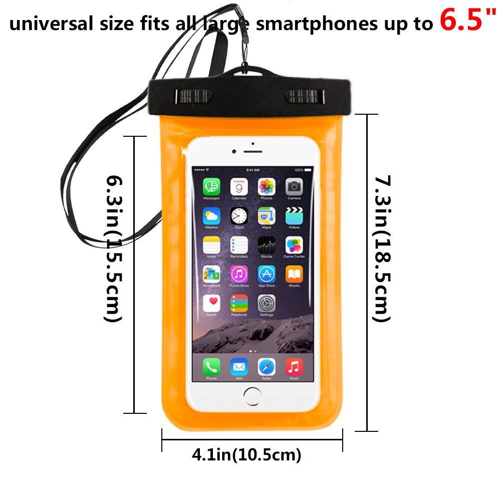 Sac de plongée iPhone 6.5 PVC Pouche Pochette de téléphone portable Pochette Natation pour Sac Sac Sac Sac Etanche X 6S 8 7 Xiaomi Samsung Sac Protecteur Roia