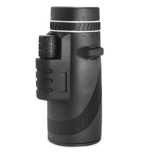 Hohe Qualität 50x60 Teleskop-Monokular-Monokular-Fernglas klares schwaches Nachtsicht-Taschenteleskop mit Smartphone-Halter für Camping