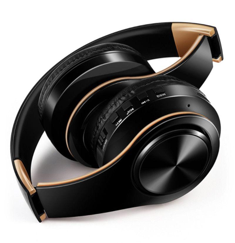 Беспроводной Bluetooth Наушники Наушники Стерео Складные наушники Наушники с микрофоном / TF CARD FM Radio для Gaming Mobile Phone Music