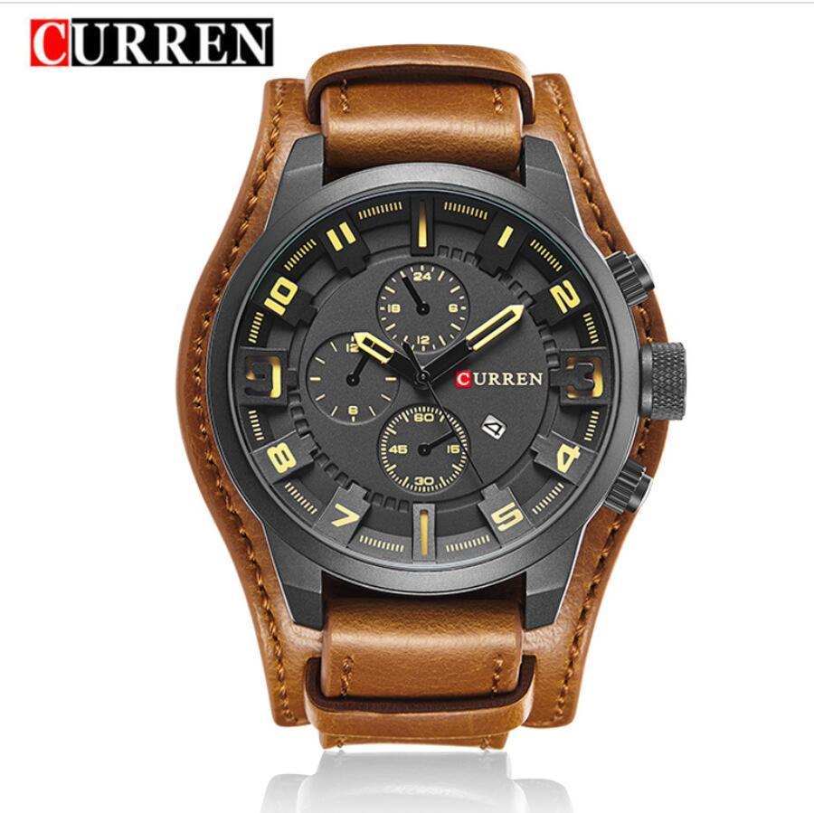 Orologi da uomo Curren Moda Casual Business Quartz Watch Data Data impermeabile Orologio da polso Hodinky Leathur Strap Relèjes Montre Homme Orologio