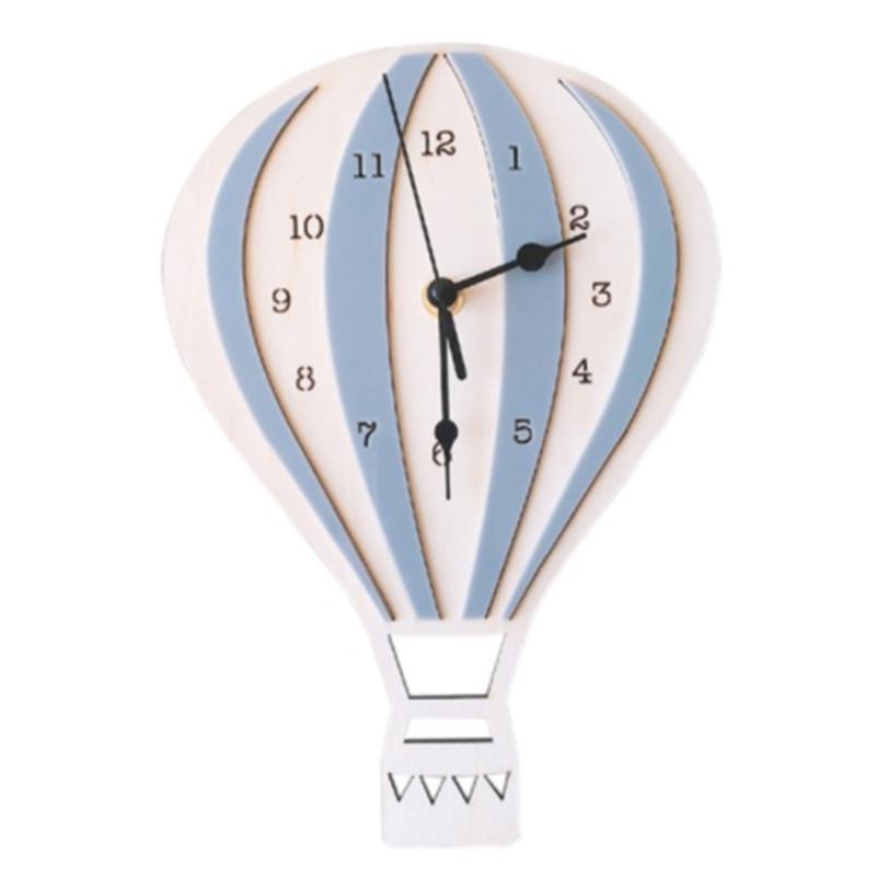 -Nordic Estilo Dos Desenhos Animados Dos Desenhos Animados Balão Relógio Muda Sala de Parede Exclusivo Presentes Decorações Home Relógios