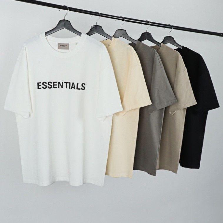 Uomini 2021 New Hip-Hop T-Shirt Donna Estate Oversize Nebbia Nebbia Top Essentials Manica corta T-shirt T-shirt Strada