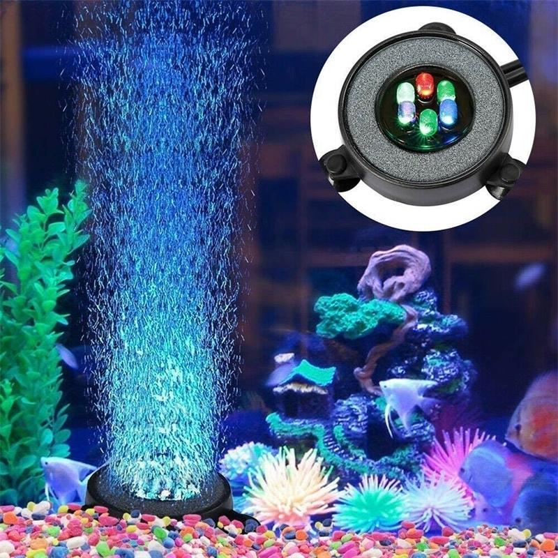 Sous-marine Sous-marine Submersible Tank Couleur Couleur Changement de Changement d'air Air Lumble Air Light Air Air Lampe Faire de l'oxygène pour le réservoir de poisson Y200917