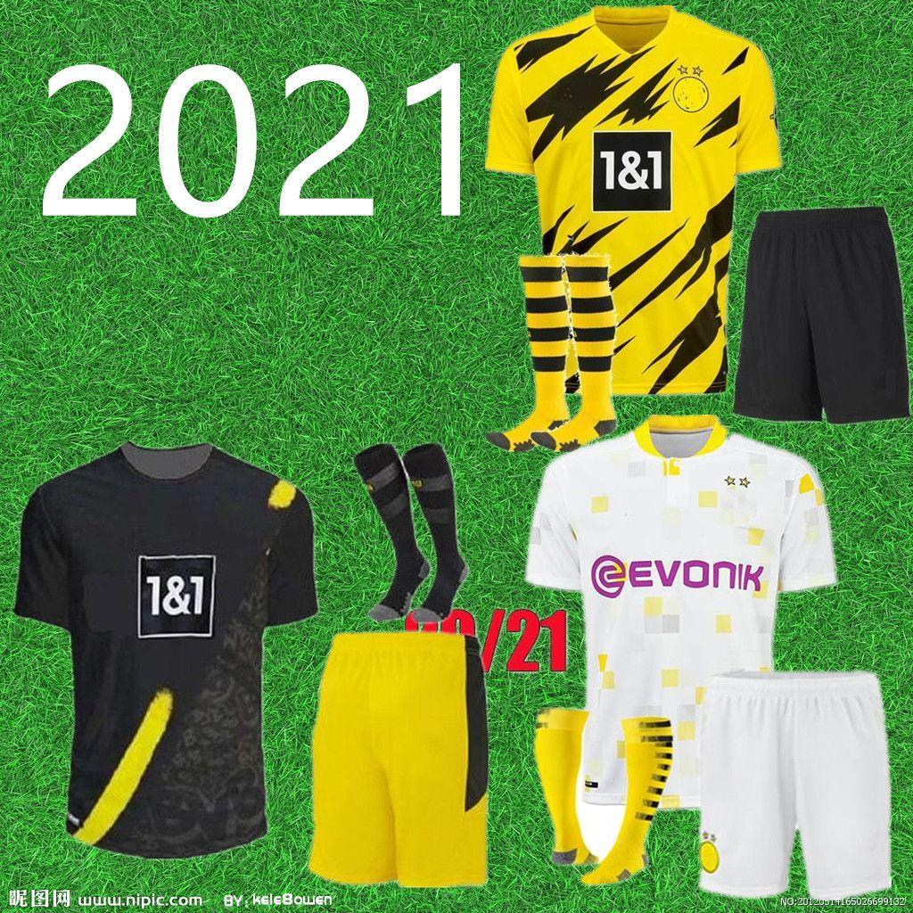 الرجال 2021 Borussia Haaland Reus دورتموند لكرة القدم الفانيلة 2020 2021 Haaland Bellingham Sancho Hummels Brandt كرة القدم قميص الرجال الزي الرسمي
