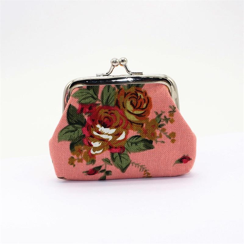 스토리지 가방 패션 빈티지 꽃 동전 지갑 캔버스 키 홀더 지갑 지갑 작은 선물 가방 클러치 핸드백 ZWL379 15 R2