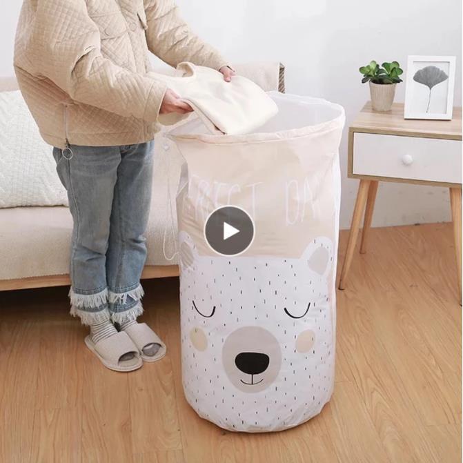 الكرتون الدب حقيبة تخزين شعاع ميناء حقيبة شفافة كيس كبير خزانة المنظم الطفل لعبة المنظم خزانة أكياس لحاف الرطوبة