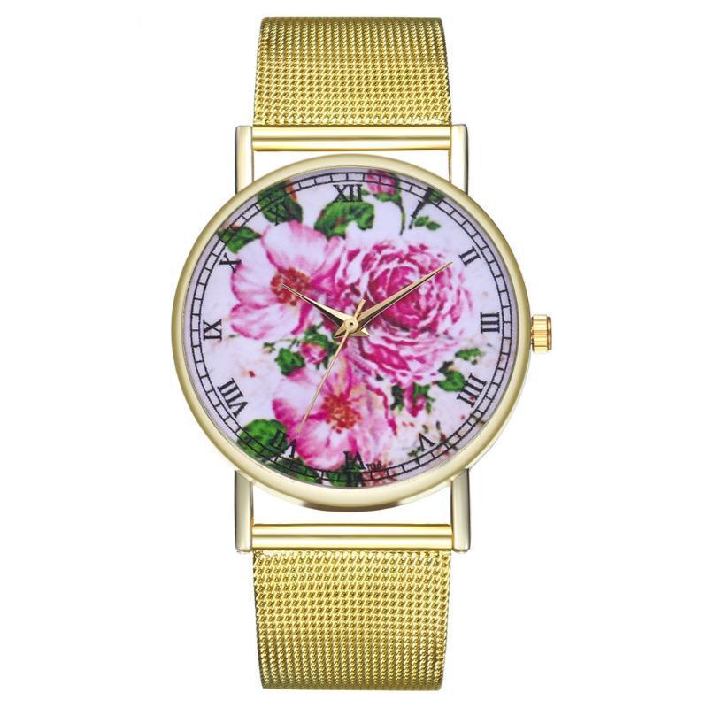 Saatı Vintage Bayanlar Yuvarlak Örgü Kayışı İzle Kuvars Moda