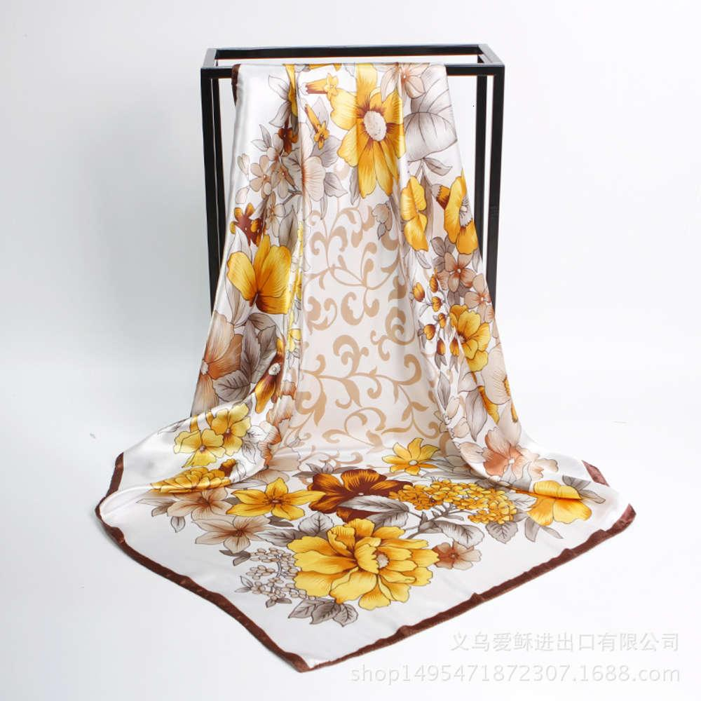 Primavera verano nuevo seda de 90 cm como bufandas profesionales, bufandas y chales