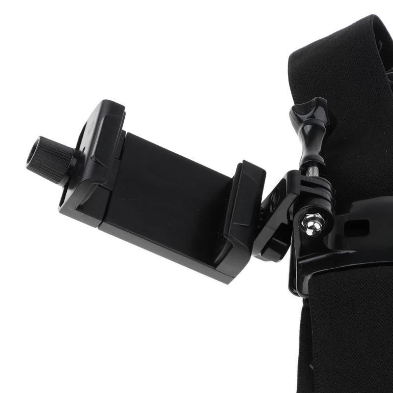 Supporti per telefoni cellulari Supporti D57D Supporto a testa D57D con cinturino compatibile Azione Telecamera Portaformatore regolabile Morsetto indossabile Video POV FILMING