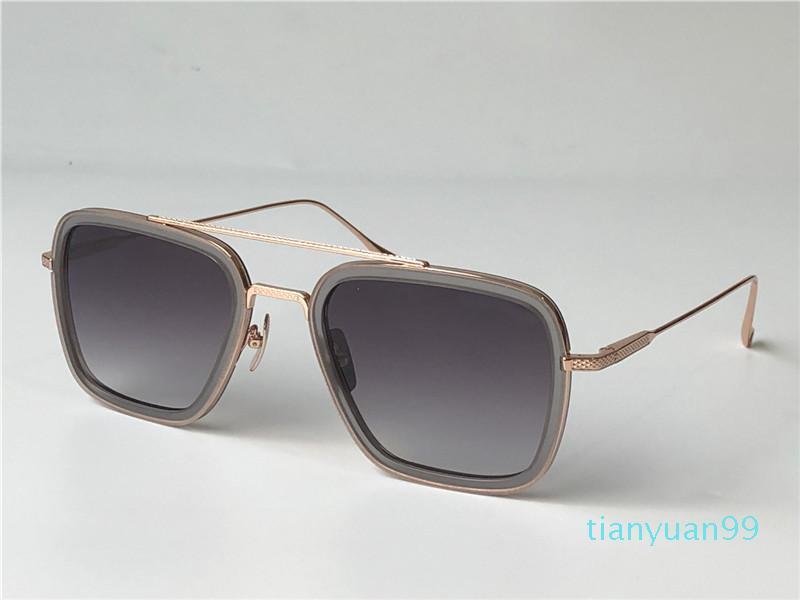 Top Quality 006 Mens Sunglasses para mulheres homens óculos de sol estilo de moda protege os olhos UV400 lente gafas de sol com caixa