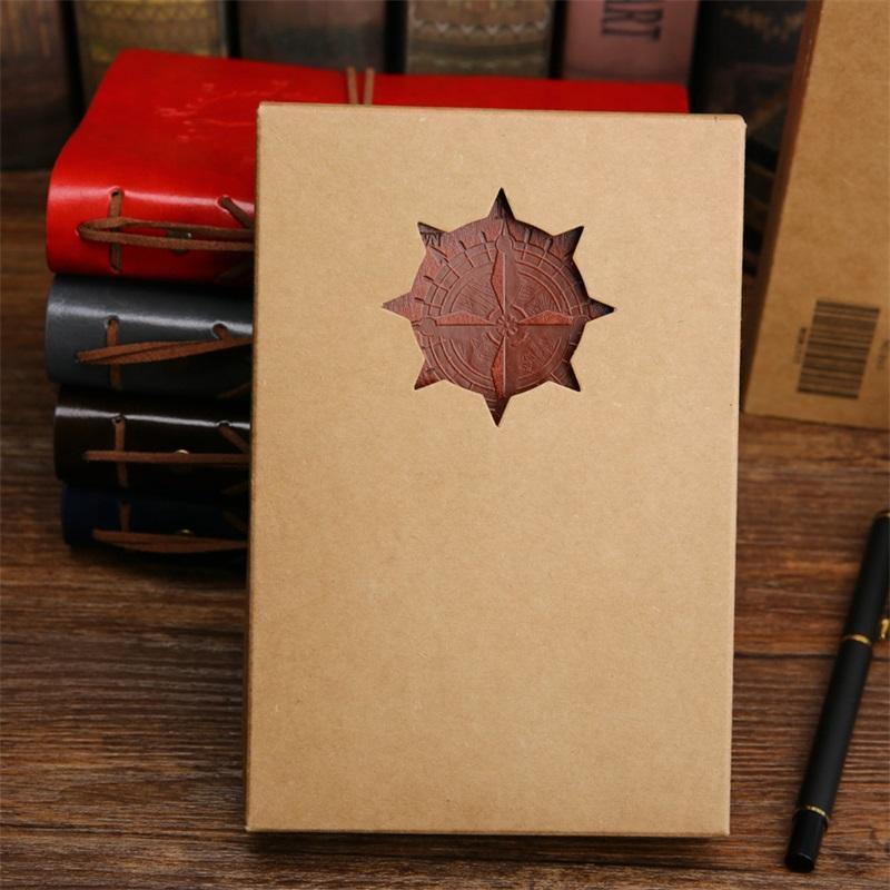 2017 Espiral Notebook Diário Notepad Vintage Pirata Âncoras PU Couro Nota Book Replaceable Papelaria Presente Journal 677 K2