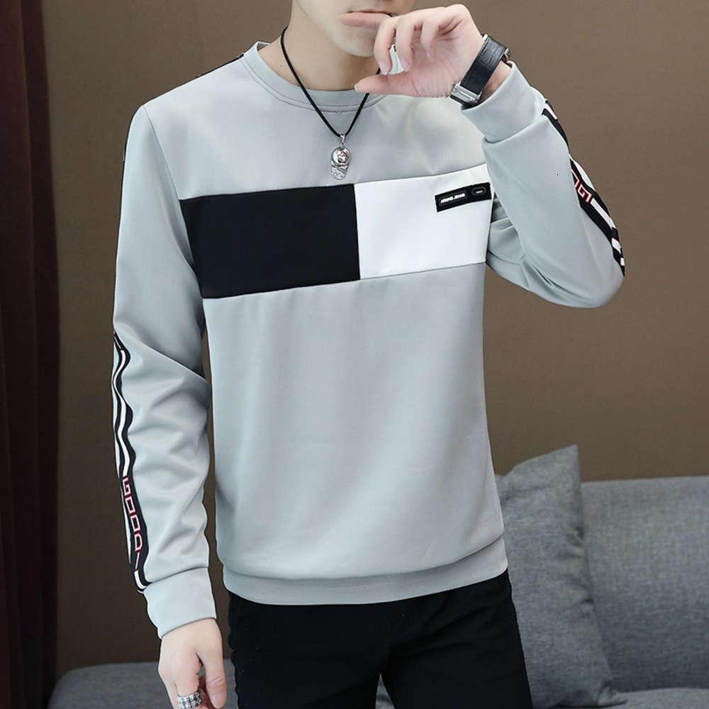 Otoño 20 Nuevo Cuello redondo de manga larga coreana de moda casual.