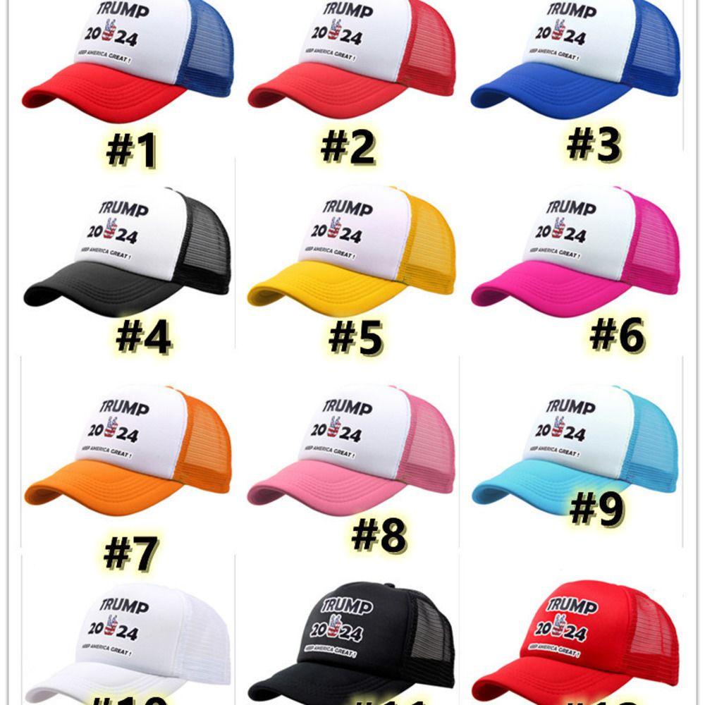 Trump 2024 Örgü Beyzbol Şapka Yaz Topu Kapaklar Başkan Trump Amerika Tutun Büyük Maga Snapbacks Unisex Ayarlanabilir Deakili Plaj Visor G3201