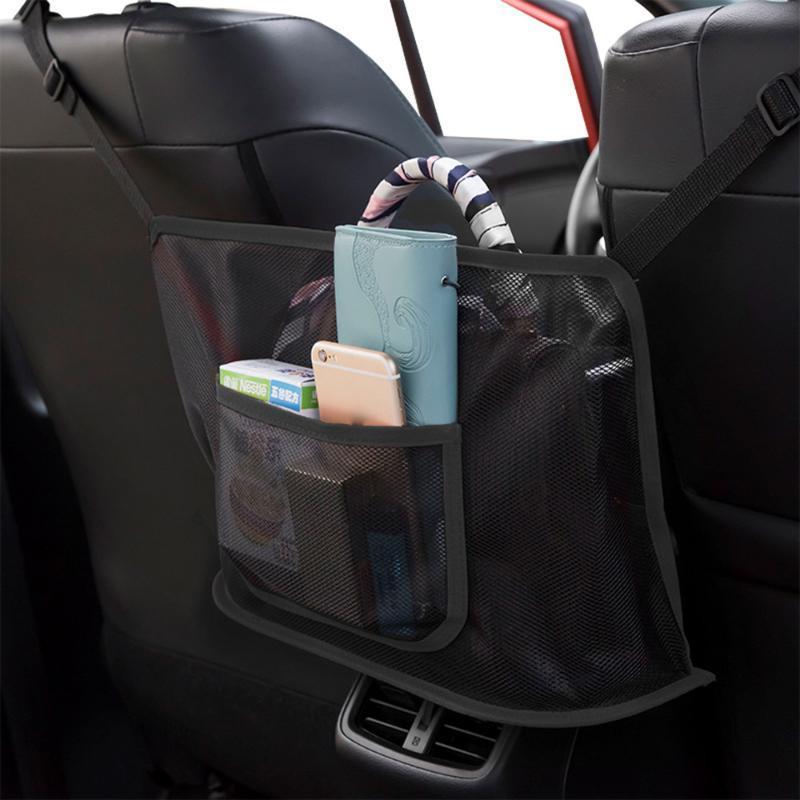 2021 جديد سيارة صافي جيب حقيبة يد حامل المنظم السيارات الداخلية الملحقات متعددة الوظائف حقيبة تخزين السيارة و شحن سريع