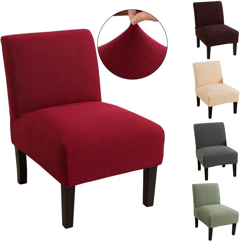 Sandalye Kapakları Kolsuz Kapak Katı Renk Streç Accent Orta Yüzyıl Slipcover Spandex Ev Mobilya Koruyucu