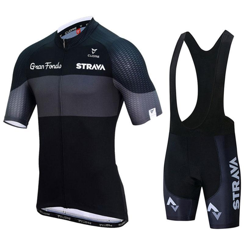 Racing Sets Summer Strava Team Men's Cycling Suits Tops Triathlon Pro Bike Wear Quick Dry Jersey Ropa Ciclismo Clothing