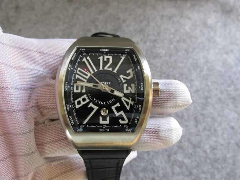 44 мм мужские часы мужские наручные часы водонепроницаемые спортивные часы V45.SC.DT V45 Лучшее качество День рождения подарок резиновый кожаный ремешок браслет