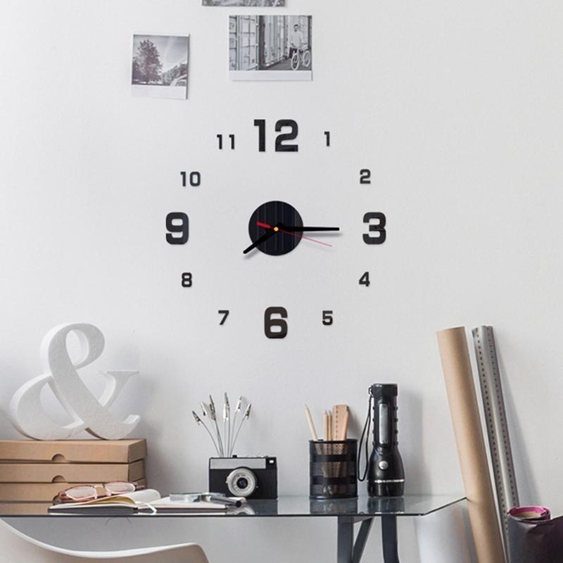 3D акриловые настенные часы висит различные стили интерьер DIY дизайн украшения современный стиль гостиной украшения настенные часы