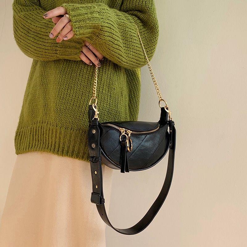 Frauen Taille Tasche Gürteltasche Mode PU Leder Fanny Pack Taille Packungen 2021 Marke Hüfte Packung Brust Pack Neue Weibliche Crossbody Taschen 210311
