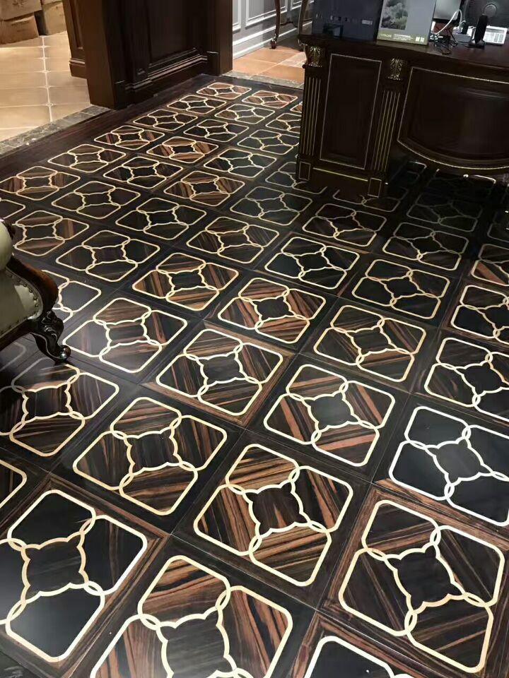 Black Rosewood Art Parquet Hardwood flooring wall panels background woodworking marquetry home decor medallion inlay engineered timber floor