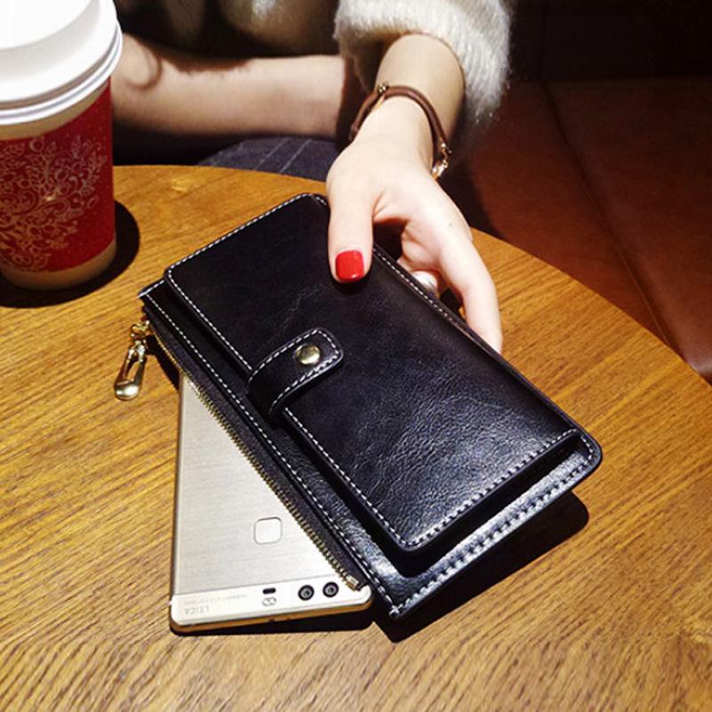 2021 New Fashion Long Women's Buckle Ultra sottile portafoglio mobile in pelle morbida borsa