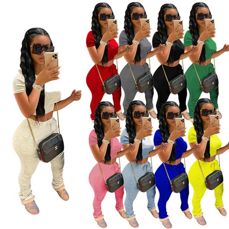 women brand designer tracksuit short sleeve outfits shirt pants 2 piece set sportswear hoodie leggings sport set shirt trousers hot klw0788