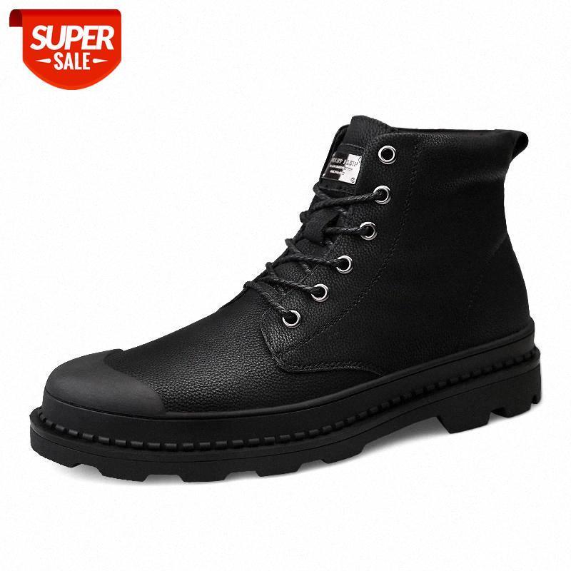 Мода зимние теплые лодыжки сапоги Новое поступление меховые плюшевые туфли мужчин сапоги плюшевые размеры 46 # D38V