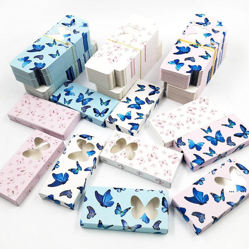 Butterfly False Eyelash Packaging Box 3D Mink eyelashes Boxes Empty Case Paper Lash Boxes Packaging 11 Styles EWF5286