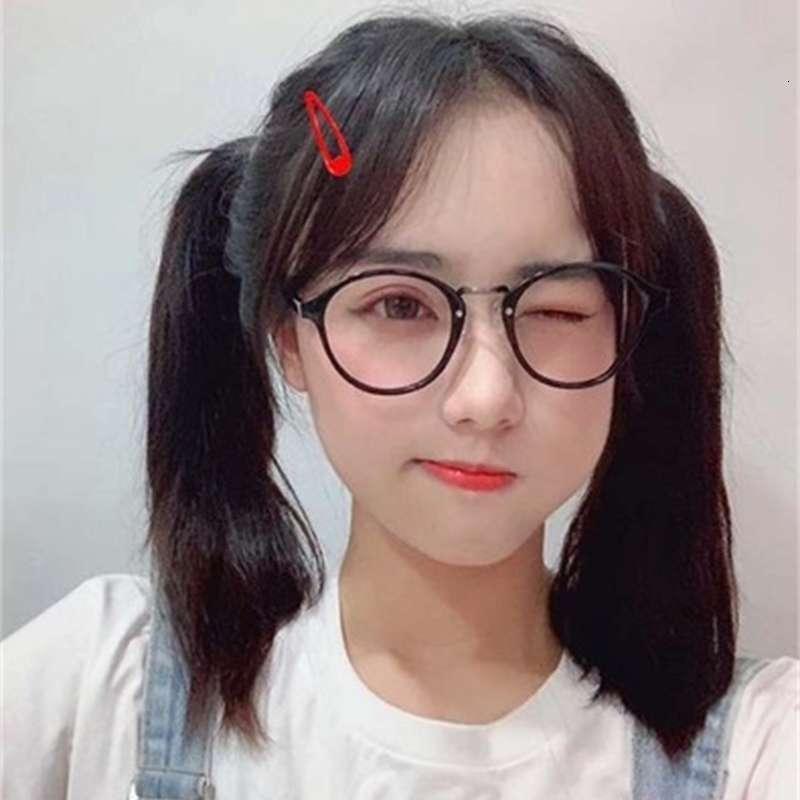 Coréen classique noir rond cadre lunettes style polyvalent homme polyvalent li zixuan même fl