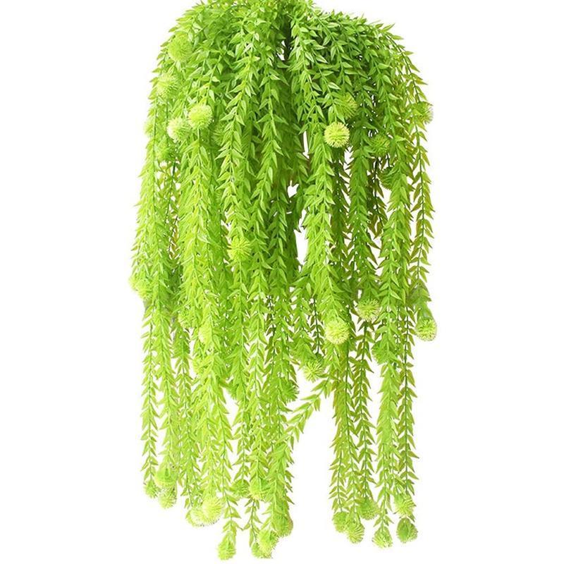 2 шт. Искусственные подвесные растения гирлянды снежки растений конечный плакат фальшивый плющ для сада стены висит декор