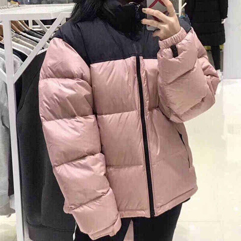 رجل أسفل سترة سترة الشتاء النسائية الأزياء الكلاسيكية عارضة الدافئة للجنسين التطريز السوستة قمم معطف أبلى