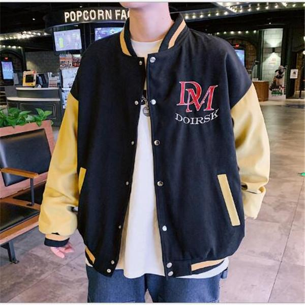 2021 Giapponese Giapponese Uomo Gioventù Studente Studente School Giacca Uniforme Hong Kong Style Collare in stand-up Baseball Uniforme Giacche maschio Cappotto