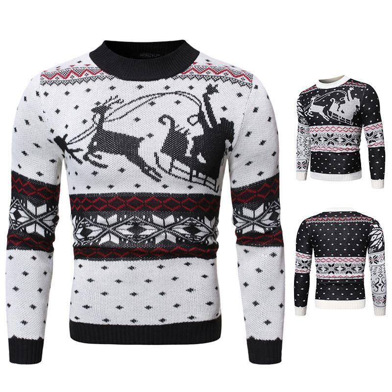 2021 Otoño e invierno Nuevo Tamaño Europeo de Daddy Nightgown Reno Impresión masculina de la camisa de fondo de punto o de ganchillo39A2