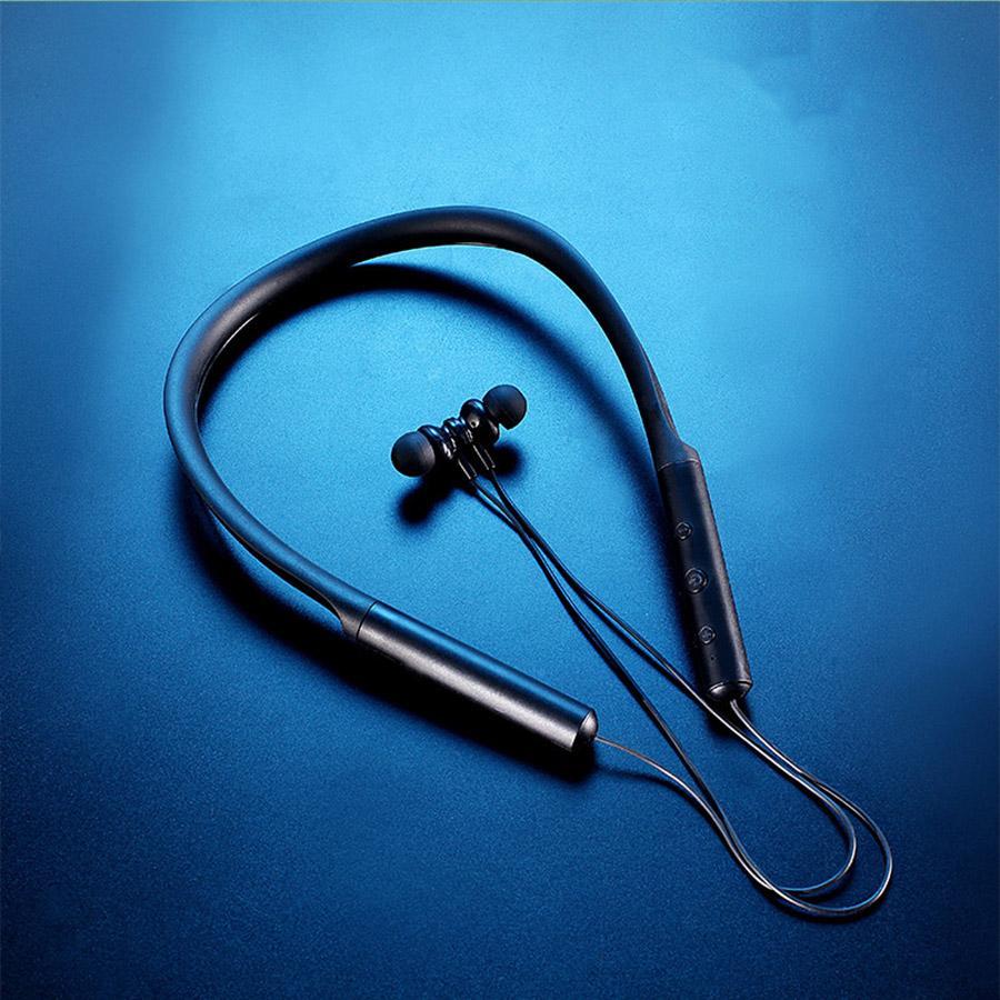 Esporte Fone de Ouvido Bluetooth 5.0 Wireless Neckband Neckband Neckband Neckband Fones de ouvido impermeável Earbud com Micano de Cancelamento de Ruído