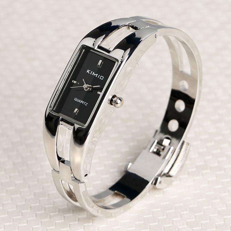 Bracelet Bracelet Montres Women Luxe Luxe Ultra-fine Mode Banglier Bracelet Montre En Acier Inoxydable Lady Bracelet pour une robe élégante