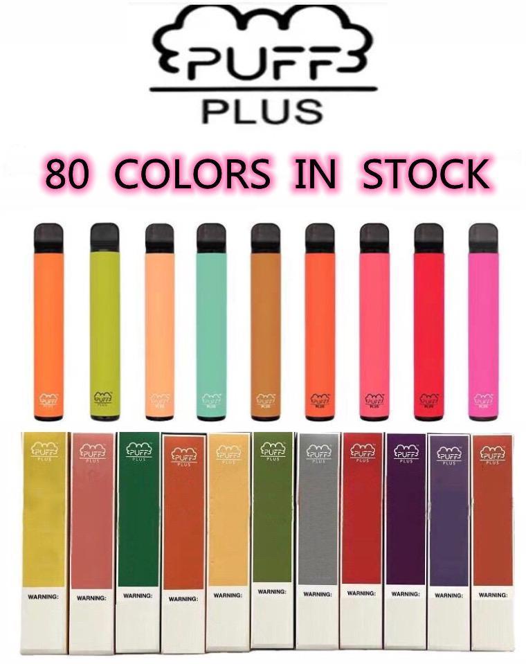 Puff Bar Plus 80 Color Disposable vape pen Device 450mAh Battery 500Puffs 3.2ml Pod prefilled xxl double stick bang xxl air bar lux