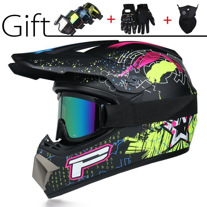 Motorcycle Helmets Send 3 Pieces Gift Professional Racing Motocross Helmet Off Road Motorbike Full Moto Cross DOT