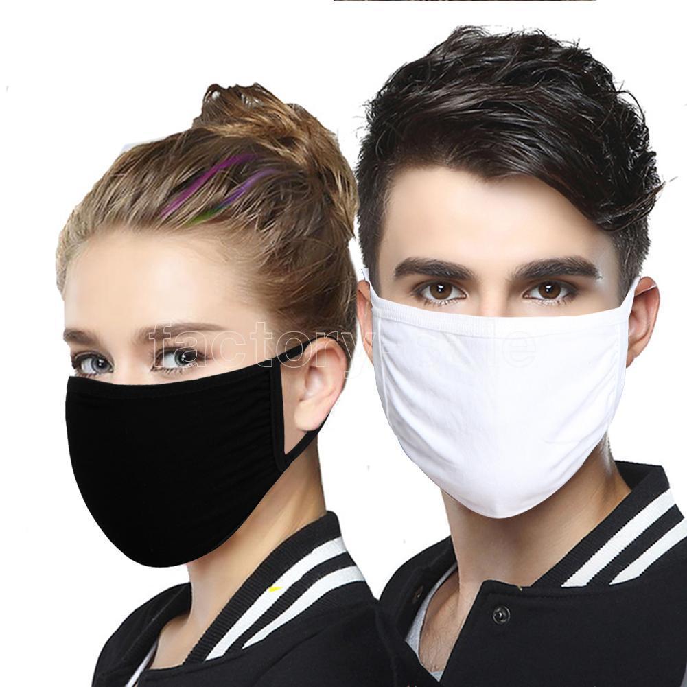 100pcs anti-poussière coton bouche massk unisexe homme femme vélo portant masques de coton de mode noir expédition rapide fy9143