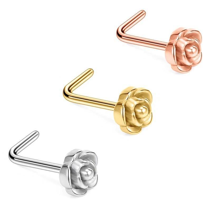 New Hot Selling Acciaio in acciaio in acciaio rosa sagomato naso per unghie per unghie per unghie per unghie