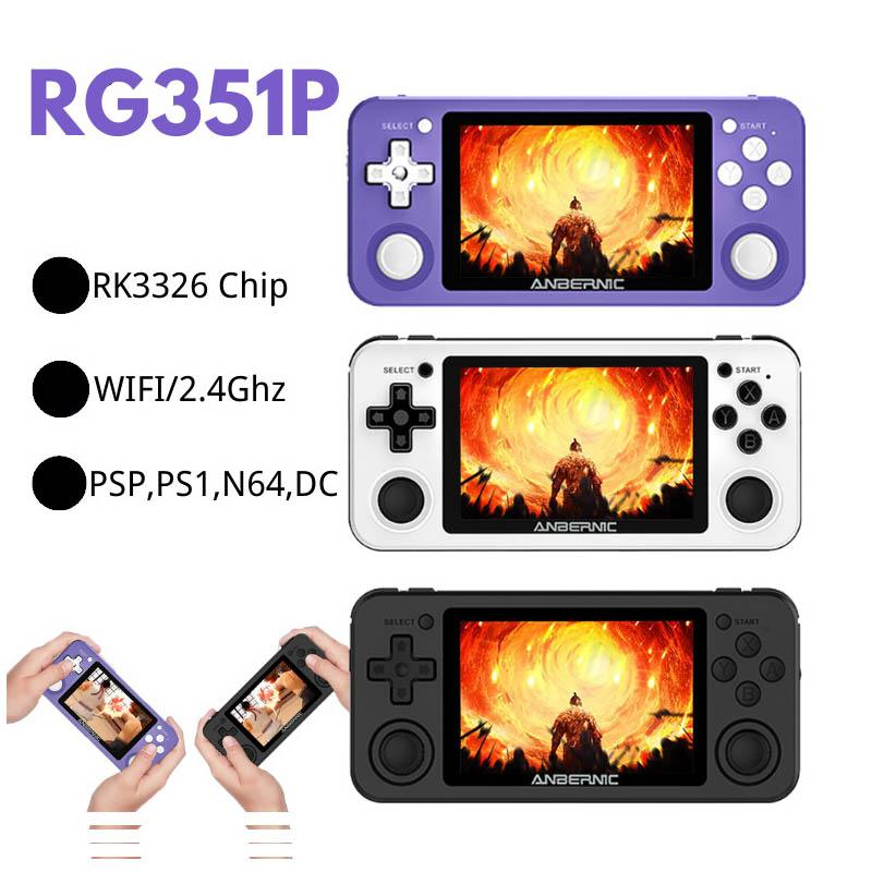New R351P 3.5 inch IPS Handheld Retro Game Console RK3326 Open Source 3D Rocker 64G 5000 PS MD Video Music Games Player