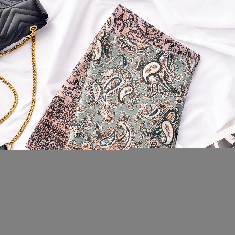 2021 Новый национальный стиль Youncang Travel Хлопчатобумажная льняная солнцезащитная платок кешью гайка напечатанный шелковый шарф du1g