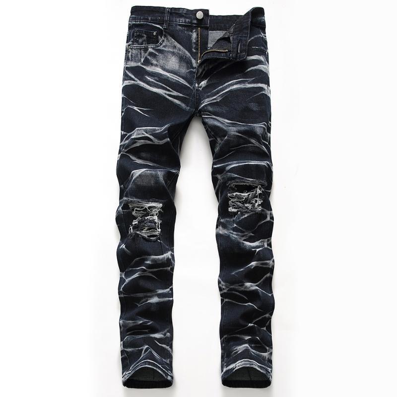 Jeans pour hommes Classic Direct Stretch Noir Business Business Denim Pantalons Slim Gratted Long Pantalons Gentleman Cowboys
