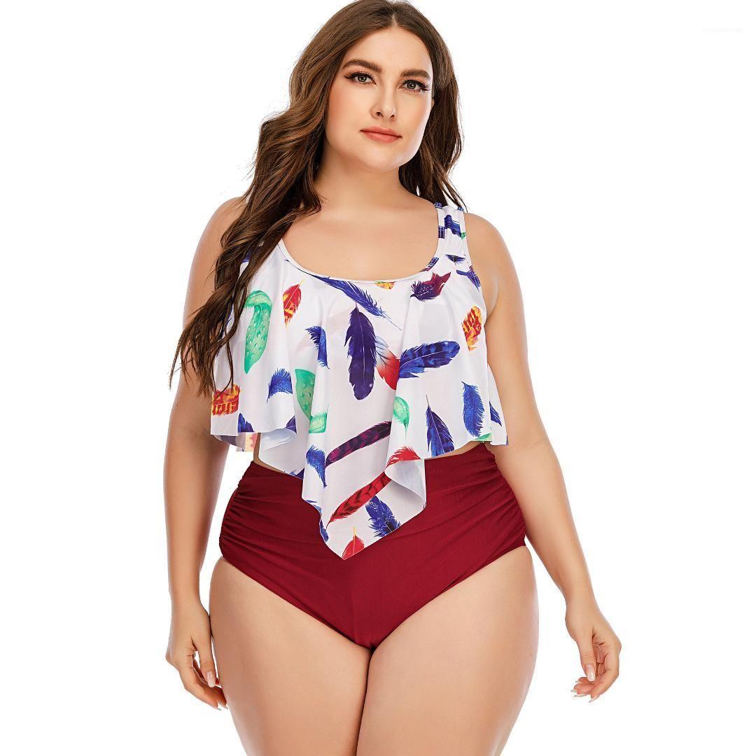 Womens Maillots de bain Bikini Imprimer Palangé Plus Taille Maillot De Maillot de bain Bikinis Mode Casual Femmes Vêtements 2021 été