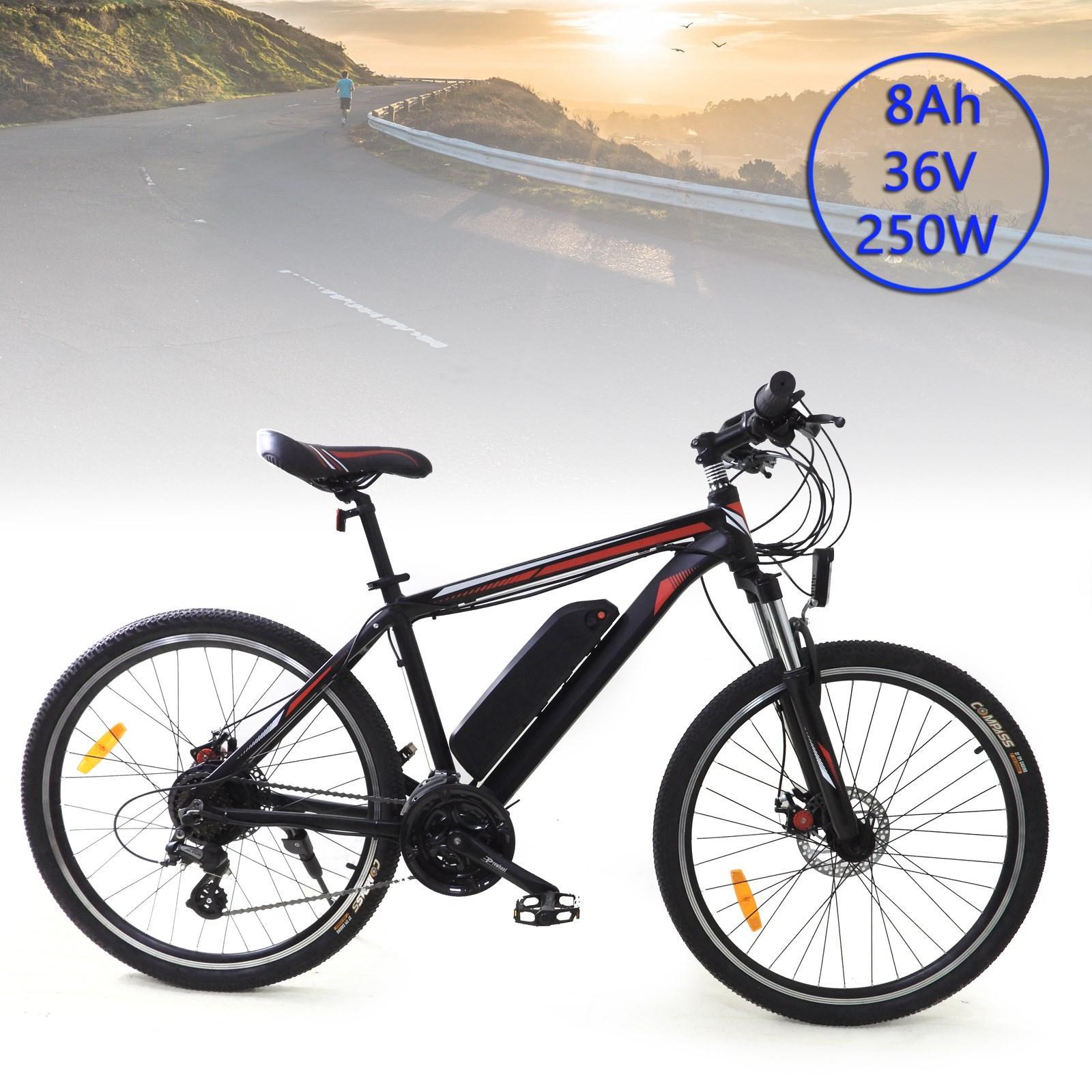 """США на складе 250 Вт 36 В 7,5-8ах аккумулятор электрический горный велосипед США 26 """"24 скорости велосипед MTB ebike"""