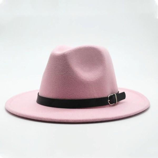 Inverno Autunno Imitazione Woolen Donne Donne da donna Signore Fedoras Top Jazz Hat Cappello europeo American Round Capputti Bowler