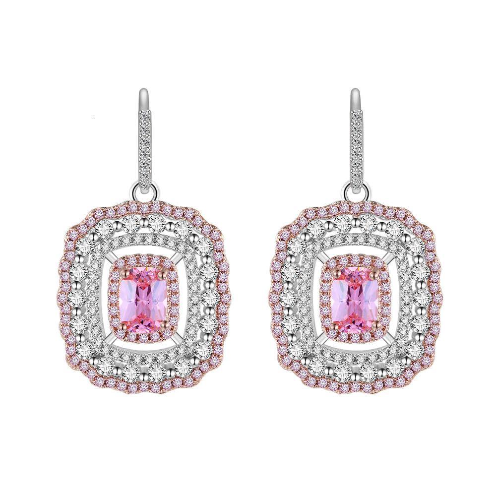 HBP Fashion Luxury 2021 Winter Neue Frauen Ring Dinner Stil Elegante Rosa Diamant Ohrschnalle Anzug Modisch Heißer Verkauf