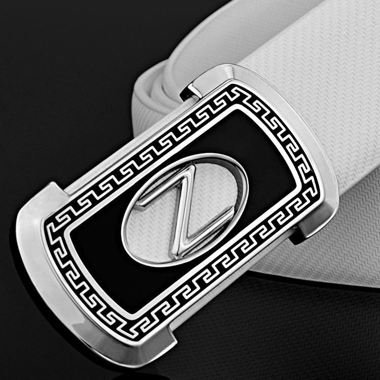 Nouvelle ceinture Hommes Z Lettre Boucle En Cuir Ceinture Guangzhou Courroie de réseau blanc