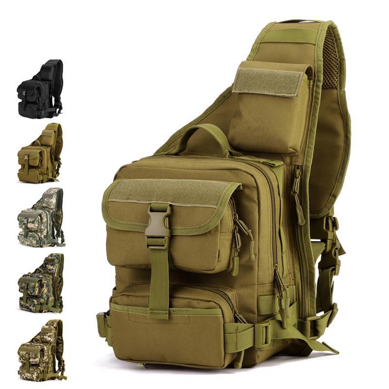 Männer Multifunktions Ranger Rucksack Molle System Taktische Umhängetasche Outdoor Camping Brust Messenger Bag Ausrüstung